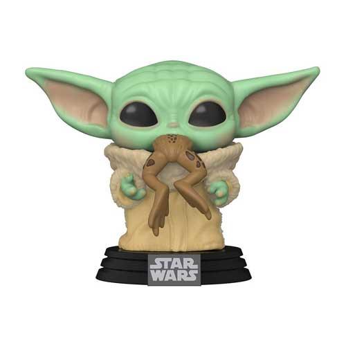 Pop Bébé Yoda avec crapeau dans la bouche