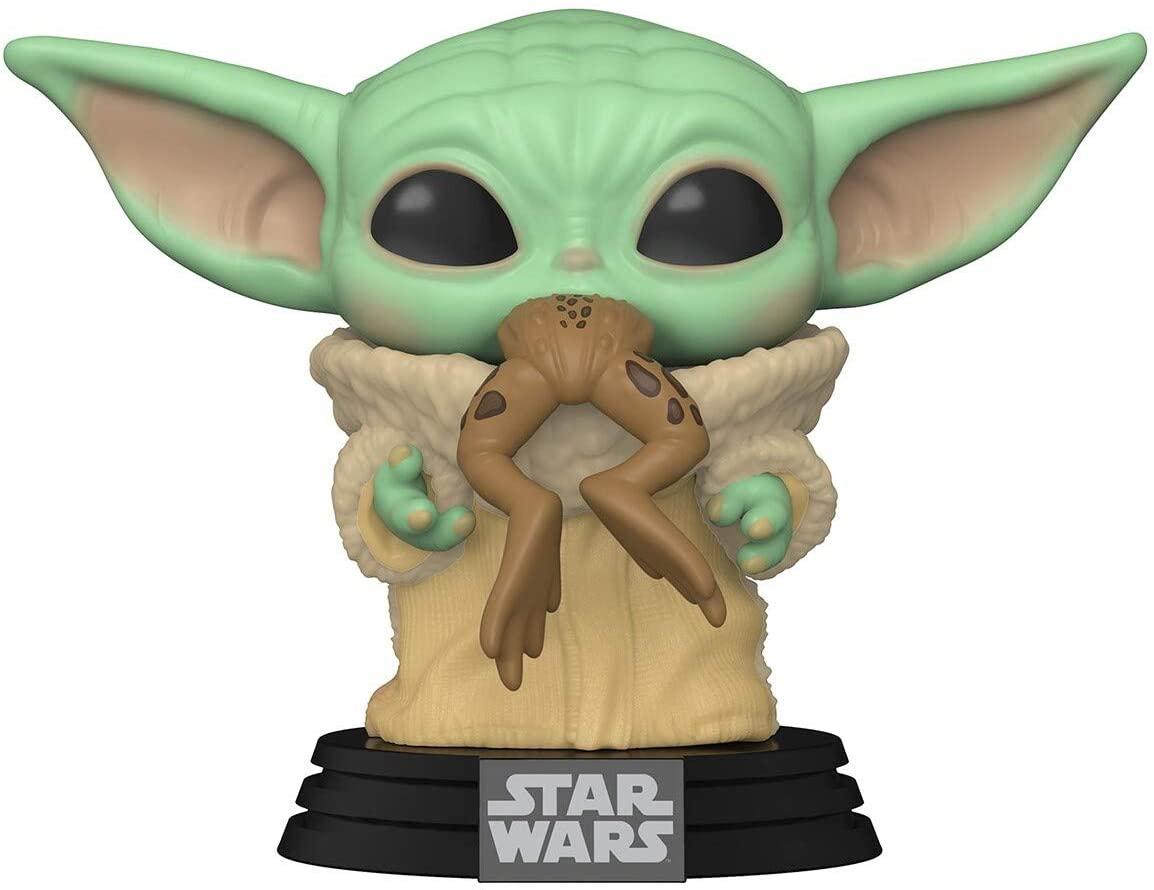 Pop Bébé yoda avec grenouille