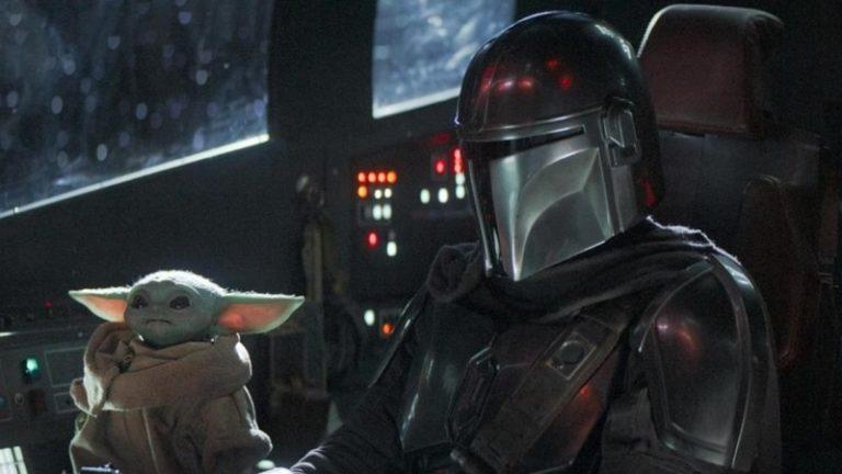 Bébé Yoda et The Mando dans le vaisseau